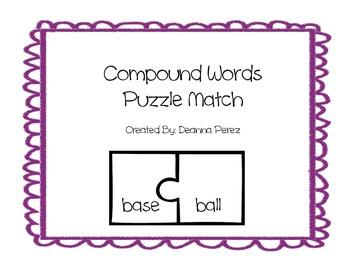Compound Words Puzzle Center