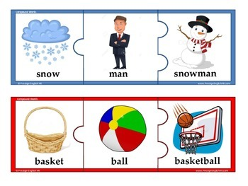 Compound Words Puzzle / Jigsaw