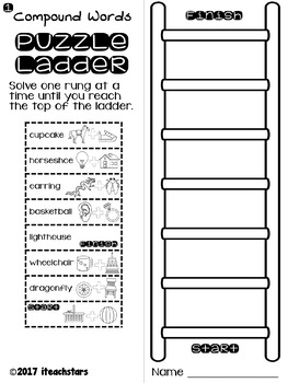 Compound Words Puzzle Ladders