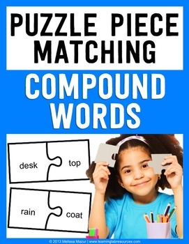 Compound Words - Puzzle Piece Matching Activity