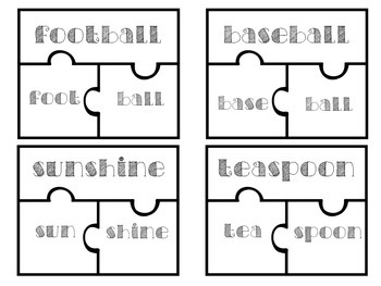 Compound Words Puzzle Task Cards