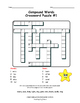 Compound Words | CROSSWORD PUZZLES| Early Finishers NO PRE