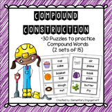 Compound Words Puzzles (Easy Cut)