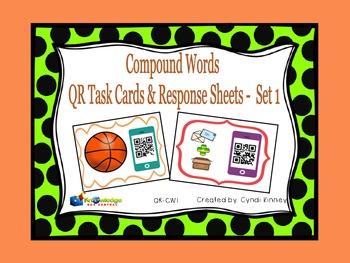 Compound Words QR Task Cards & Response Sheets - Set 1
