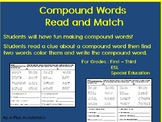 Compound Words -  Read and Match