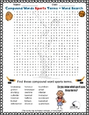 Compound Words - SPORTS edition - Fun Word Search Puzzle f