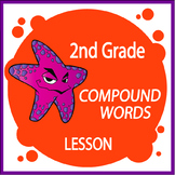 Compound Words Activities + Lesson, COLOR Poster, Compound Words Worksheet