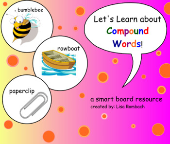Compound Words SmartBoard Lesson for Primary Grades