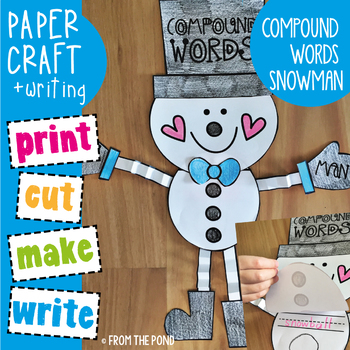 Compound Words Snowman Craft Writing Activity