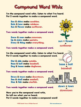 """Compound Words Song/Video: """"Compound Word Whiz"""" / Common Core-Aligned / FREEBIE!"""