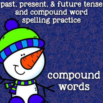 Compound Words - Spelling Practice - Christmas, Holiday, Winter - 2nd Grade