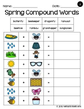 Compound Words | Spring | Writing Center | Vocabulary