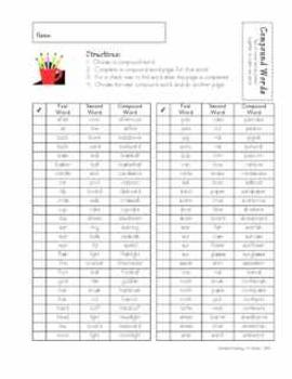 Compound Words--Standard Practice