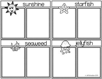 Compound Words Summer Flap Books for Kindergarten, First Grade or Newcomers!