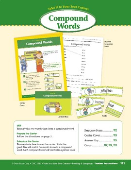 Compound Words (Take It to Your Seat Centers)