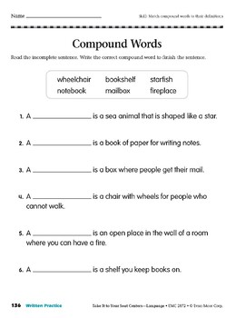 Compound Words (Take It to Your Seat Centers: Common Core Language)