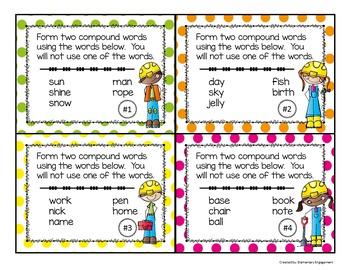 Compound Words Task Cards (Scoot)
