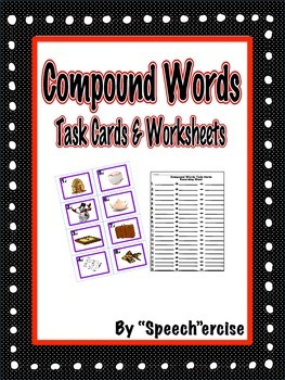 Compound Words- Task Cards and Worksheets