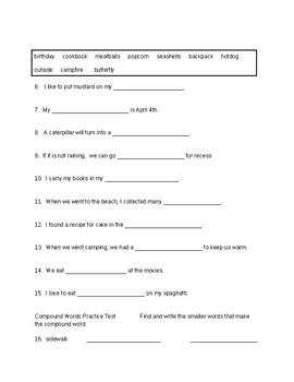Compound Words Test