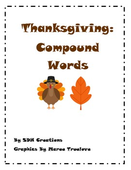 Compound Words: Thanksgiving-themed clipart
