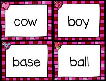 Valentine Compound Words Matching Activity
