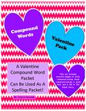 Compound Words Valentine Spelling Packet