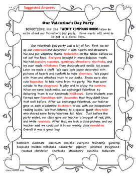 Compound Words Valentine Spelling Packet