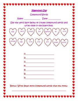 Compound Words-Valentine's Day
