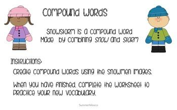 Compound Words Winter