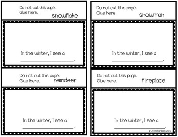 Compound Words Winter Flap Books!