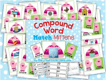 Compound Words : Winter and Spring Themed activities