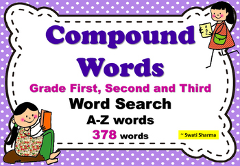 Compound Words Word Search Grade First Second and Third