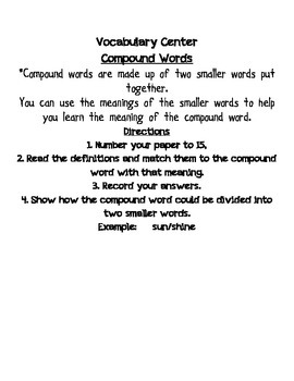 Compound Words - Word Structure for Meaning