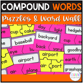 Compound Words -  Word Wall cards and Center Activity