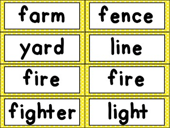 Compound Words Word Work Games