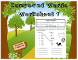 Compound Words - Worksheet 1