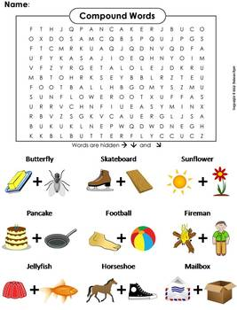 Compound Words Worksheet: Word Search