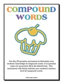 Compound Words Worksheet {Free Download}