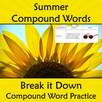 Compound Words Worksheet Summer Themed Words