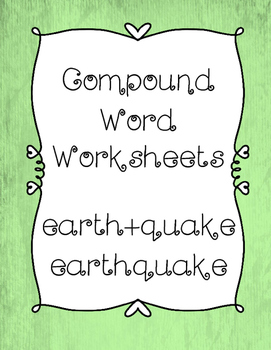NO PREP Compound Words Worksheets