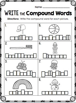 Compound Words {Worksheets & Activities}