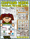 Compound Words Activities: Worksheets, Centers, Word Wall, puzzles & work mats