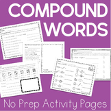 Compound Words Worksheets (No Prep!)