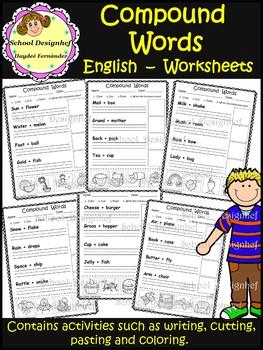 Compound Words Worksheets (School Design)