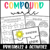 Compound Words Worksheets and Activity