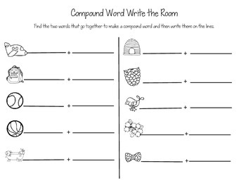 Compound Words Write the Room