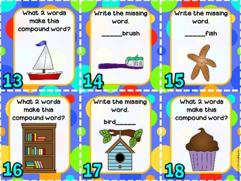 Compound Words Write the Room Activity