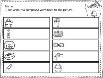 Compound Words Write the Room-April Themed