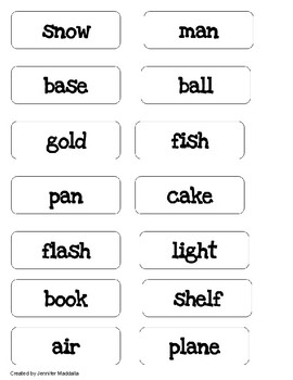 Compound Words- an easy Literacy Center