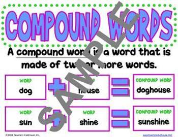 Compound Words and Contractions Unit from Teacher's Clubhouse